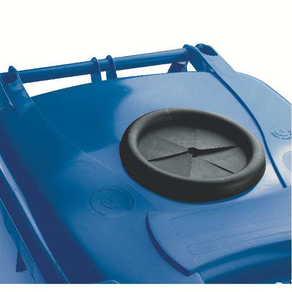 Wheelie Bin With Bottle Bank Aperture 120 Litre Blue 377864
