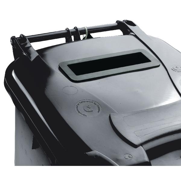 Confidential Waste Wheelie Bin 120 Litre Grey 377879