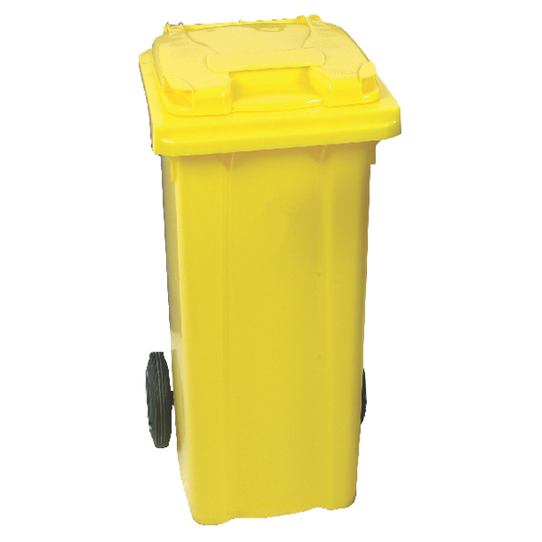 Yellow Clinical Waste 2 Wheel Refuse Container 240 Litres 377919