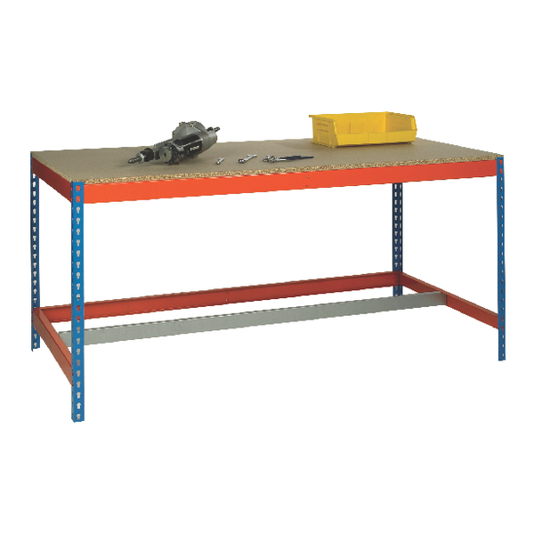 Image for Blue and Orange Workbench With Lower Bar L1800xW900xD900mm 378941