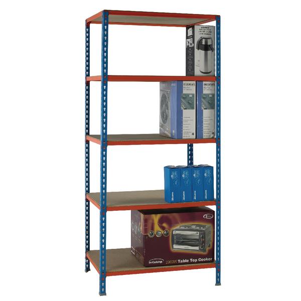 Standard Duty Painted Orange Shelf Unit Blue 378966