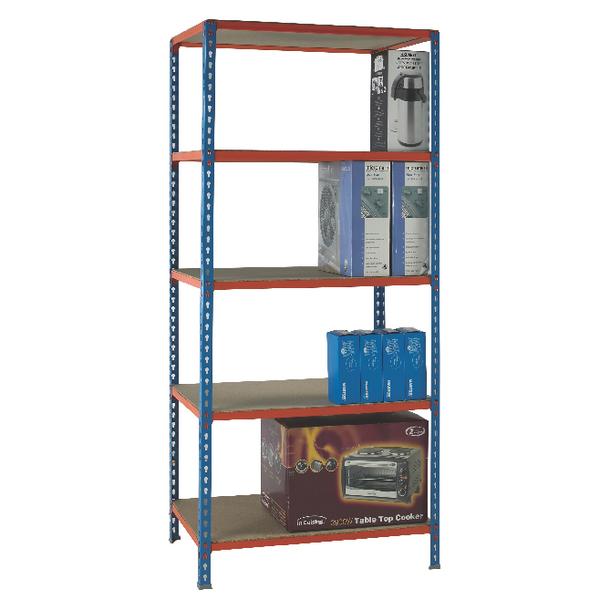 Standard Duty Painted Orange Shelf Unit Blue 378978