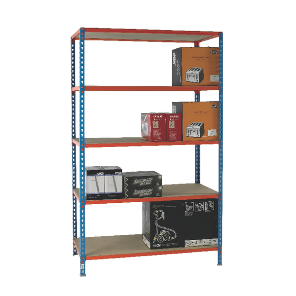 Standard Duty Painted Orange Shelf Unit Blue 378984