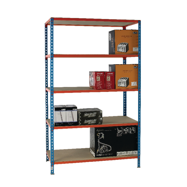 Standard Duty Painted Orange Shelf Unit Blue 378985