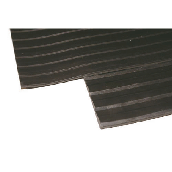 Image for Broad Ribbed Matting 3mm 1200mm X1 Linear Metre Black 379272 (1)