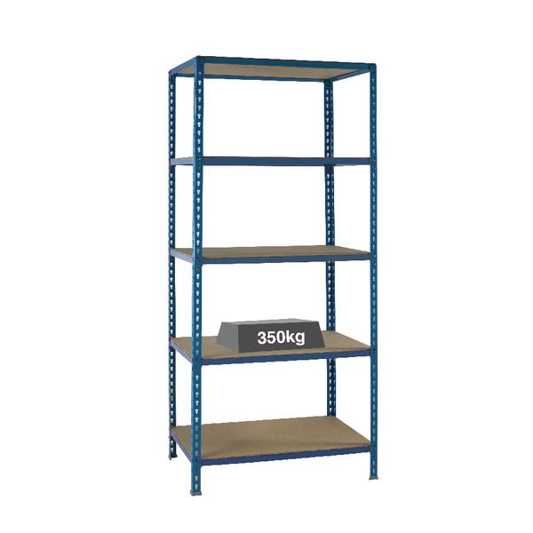 Medium Duty Bays Shelf Size 900x400mm Blue (5 shelves each with a 350kg capacity) 379623