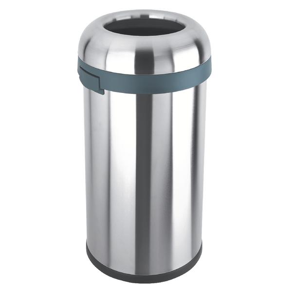 Open Top Bullet Bin 60 Litre Silver 380856