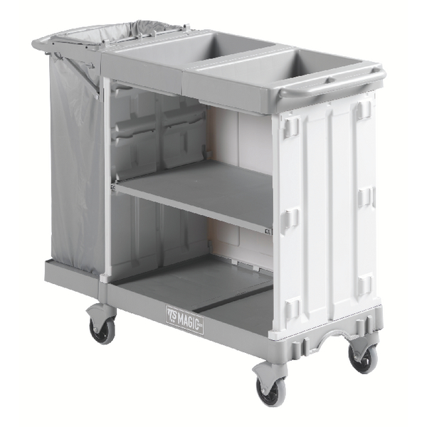 Compact Maid Service Trolley 800 Grey 381649