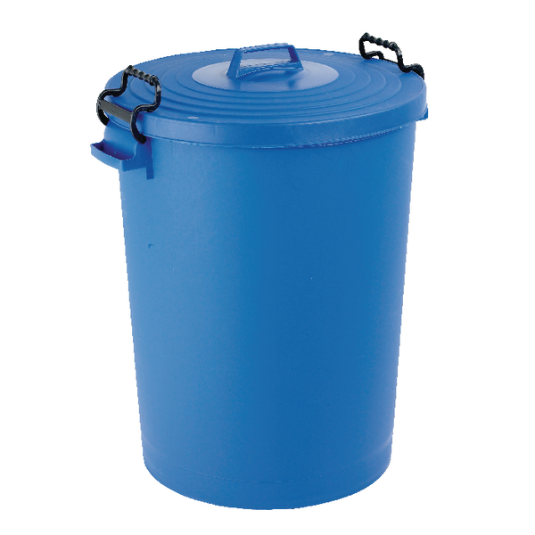 Light Duty Dustbin With Lid 110 Litre Blue (Made from light duty plastic) 382066