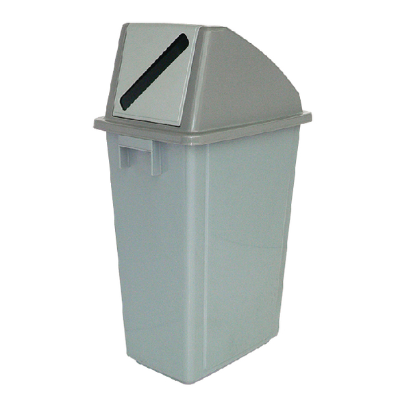 Recycling Container 60 Litre Paper Lid Grey 383013