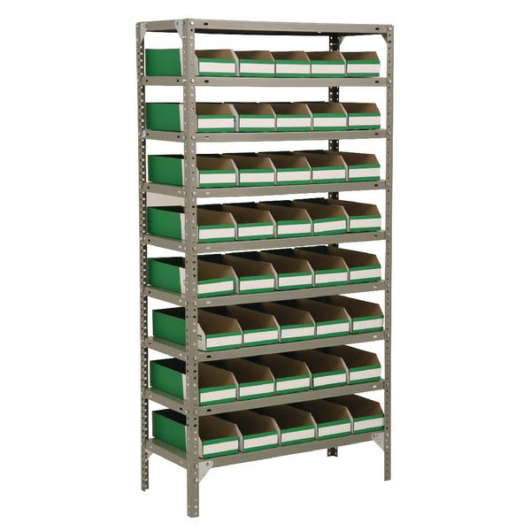 Image for Bolt Kit 1800X900X400mm 8-Shelves 28 Bins Grey 383653