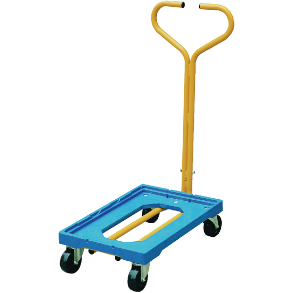 Plastic Dolly With Handle Blue 365127