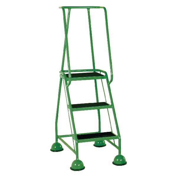 Green 3 Tread Step Ladder (Load capacity: 125kg) 385136