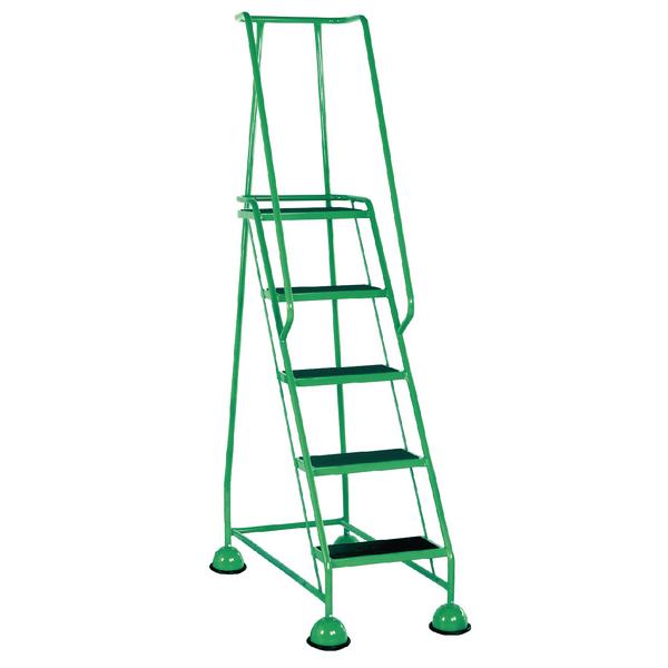 Green 5 Tread Step Ladder (Load capacity: 125kg) 385144