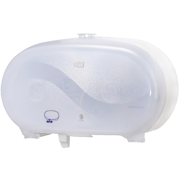 Tork Twin Coreless Mid-Size Toilet Roll Dispenser White 482058