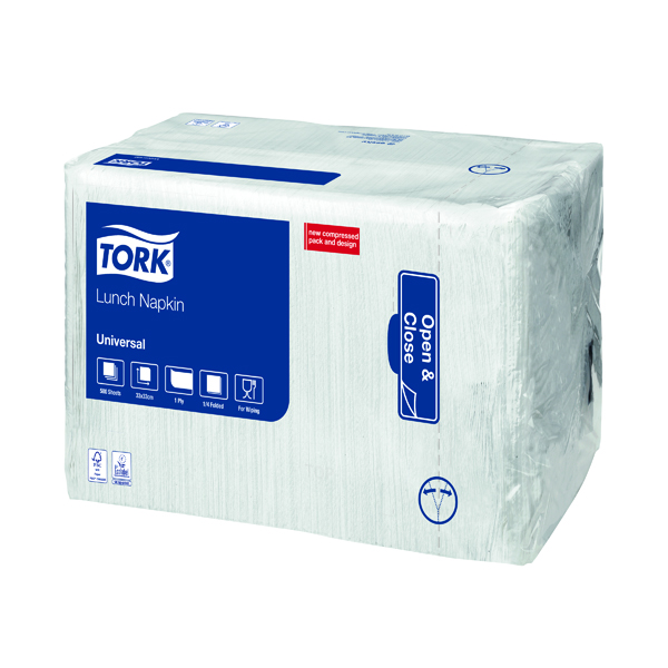 Tork Lunch Napkin 1 Ply White (Pack of 500) 509300