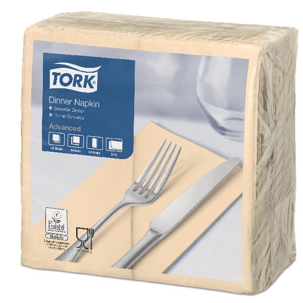 Tork Dinner Napkin 2-Ply 8 Fold Sand (Pack of 150) 477565
