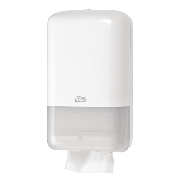 Tork T3 Folded Toilet Tissue Dispenser White 556000