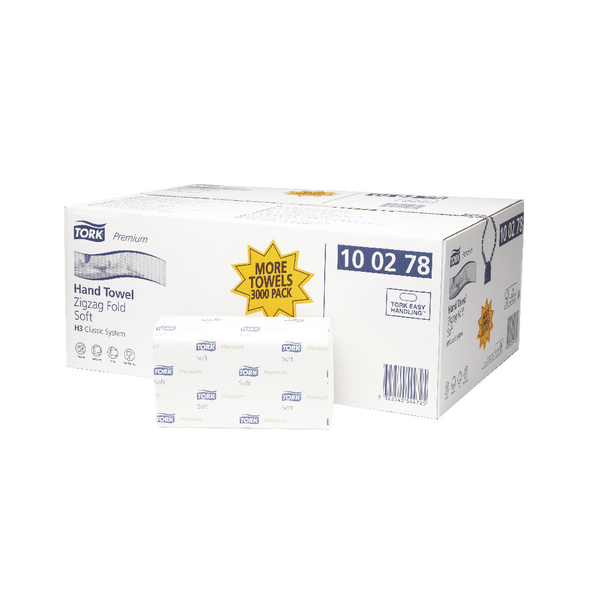 Tork H3 White Extra Soft Single Fold Hand Towel 200 Sheets (Pack of 15) 100278