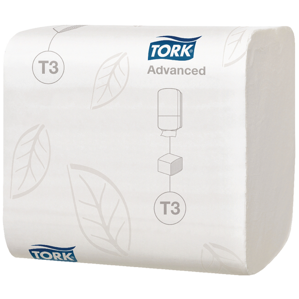 Tork T3 Folded Toilet Tissue 2-Ply 242 Sheets (Pack of 36) 114271