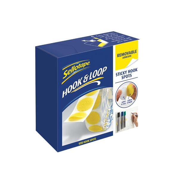 Sellotape Sticky Hook Spots Removable (Pack of 125) 2055787