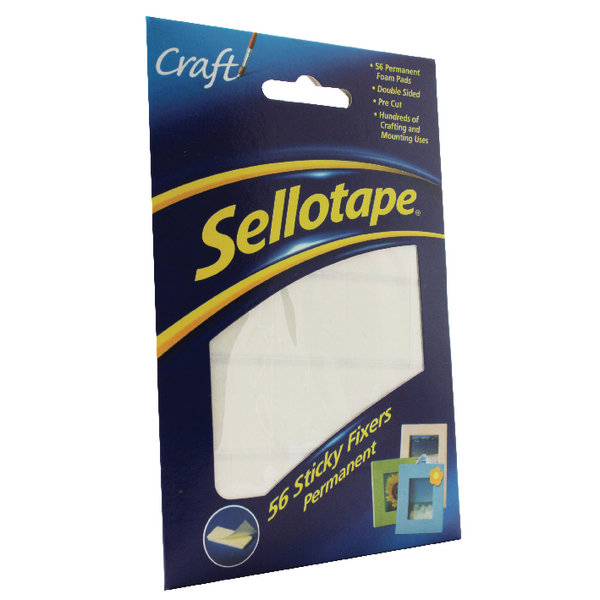 Sellotape Sticky Fixers Permanent 12x25mm (Pack of 56) 1445423