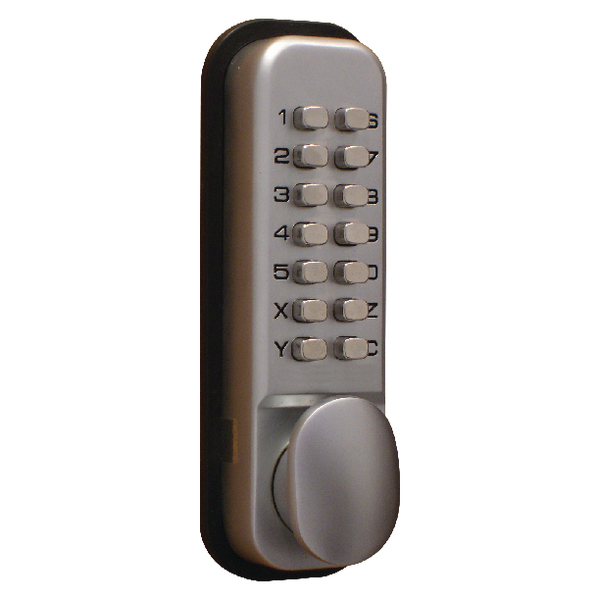 Lockit Mechanical Push Button Digital Lock Chrome DXLOCKITHB/C