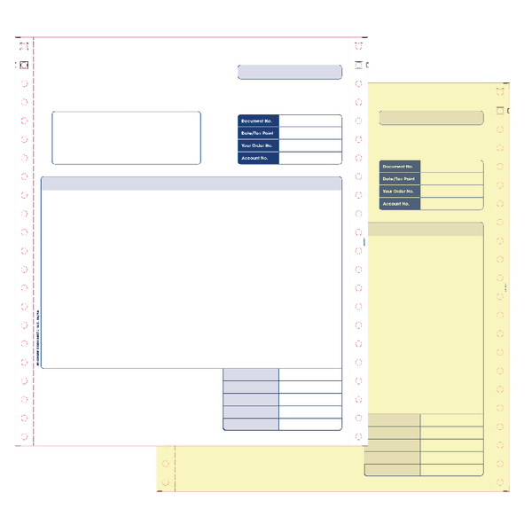 Custom Forms Sage 2 Part Dot Matrix Invoices (Pack of 1000) SE02