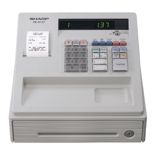 Image for Sharp XE-A137 Cash Register White XEA137WH (0)