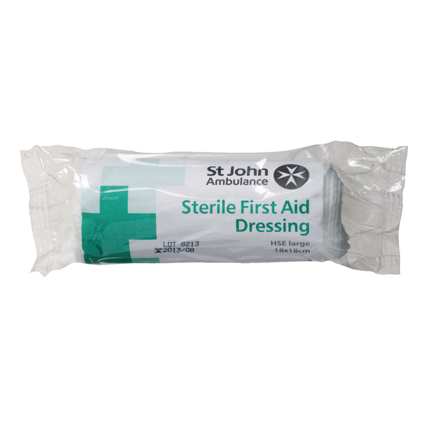 St John Ambulance Large Dressing 180x180mm F90107
