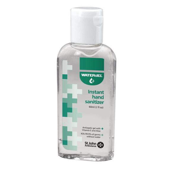 St John Ambulance WaterJel Hand Sanitiser 60ml F78028
