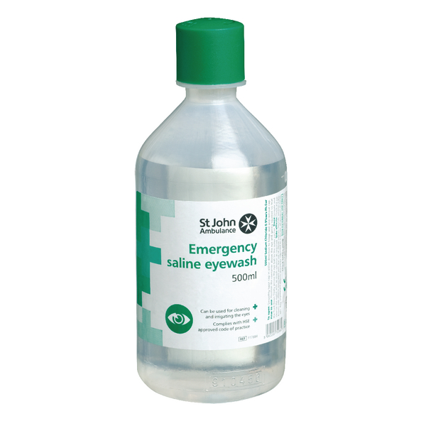 St John Ambulance Sterile Eye Wash Solution 500ml F17884
