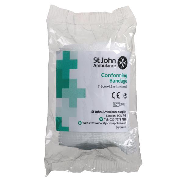 St John Ambulance ConForming Bandage 75mmx4.5m F90121