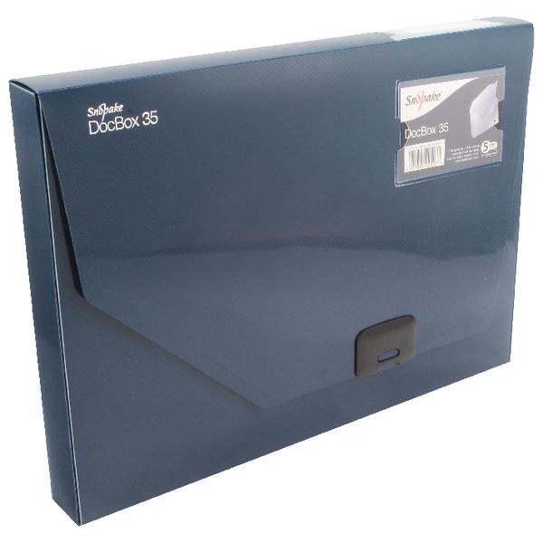 Snopake A4 35mm Dark Blue Document Box 12858