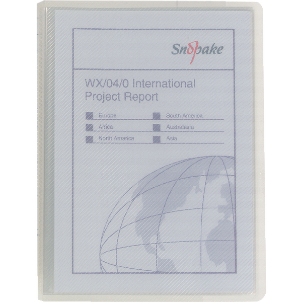 Snopake Superline Presentation Book 20 Pocket Polypropylene A5 Clear 11941