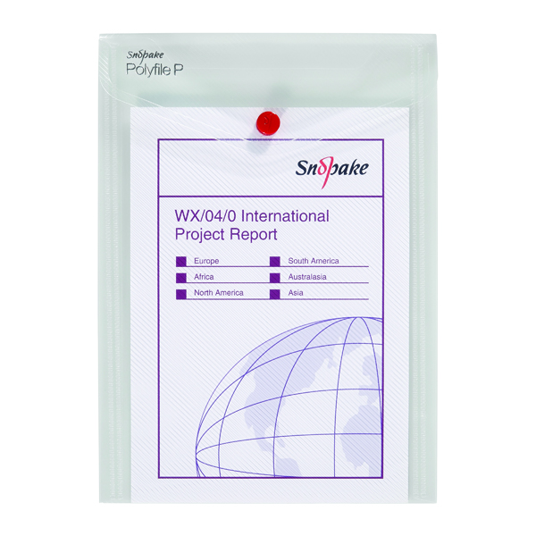 Snopake Clear Polyfile P File A5 Wallet Portrait (Pack of 5) 13280