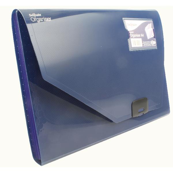Image for Snopake 6 Part Expanding Organiser A4 Dark Blue 11892