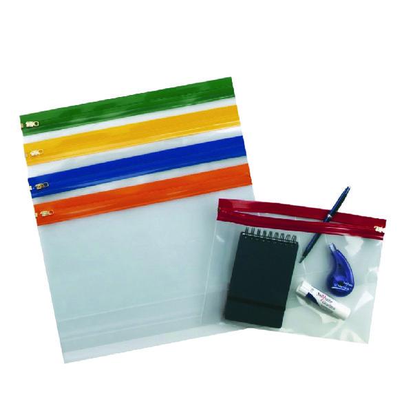 Snopake A4 Plus Plus Assorted Zippa Bags (Pack of 25) 12821