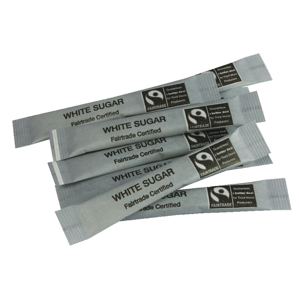 Fairtrade White Sugar Sticks (Pack of 1000) A03622