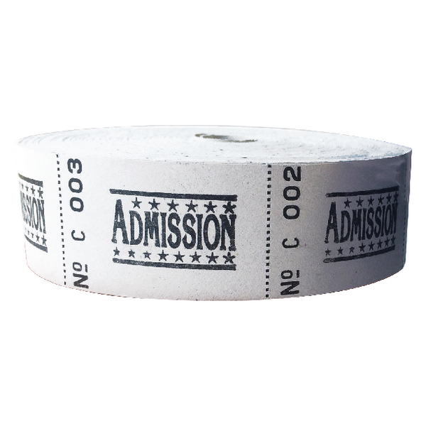 Image for Roll Ticket Admission Assorted 50022 ITAD