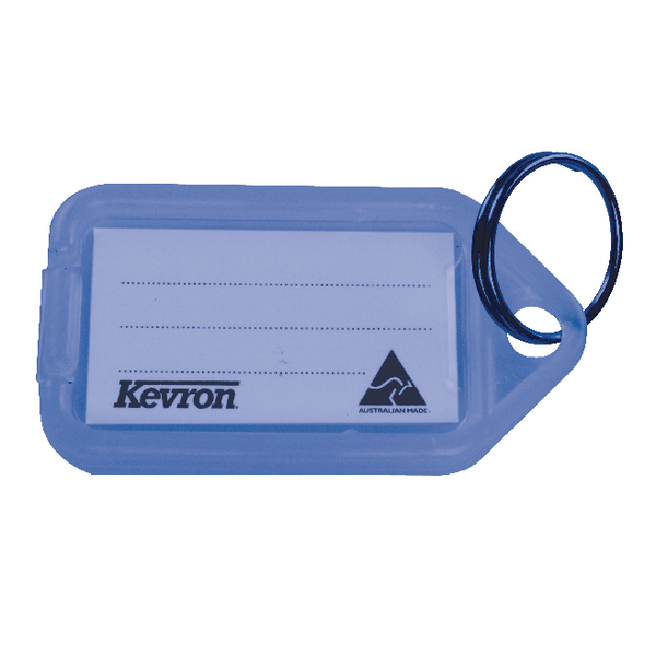 Image for Kevron Plastic Clicktag Key Tag Blue (Pack of 100) ID5BLU100