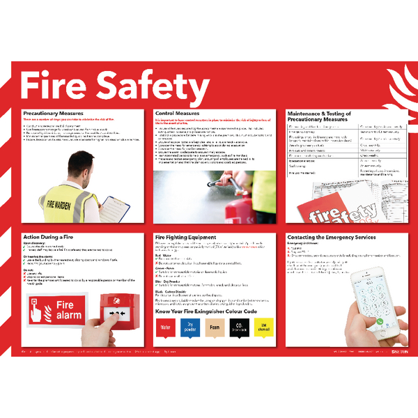 Health and Safety 420x594mm Fire Safety Poster FA601