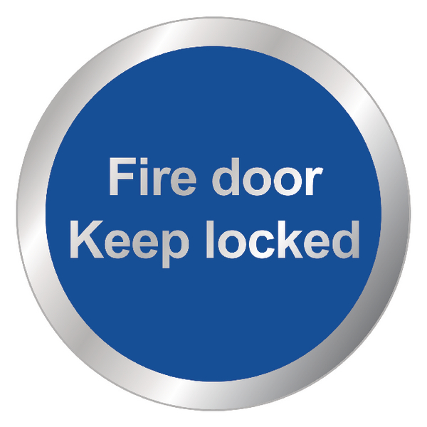 Safety Sign Fire Door Keep Locked 76mm RDS14