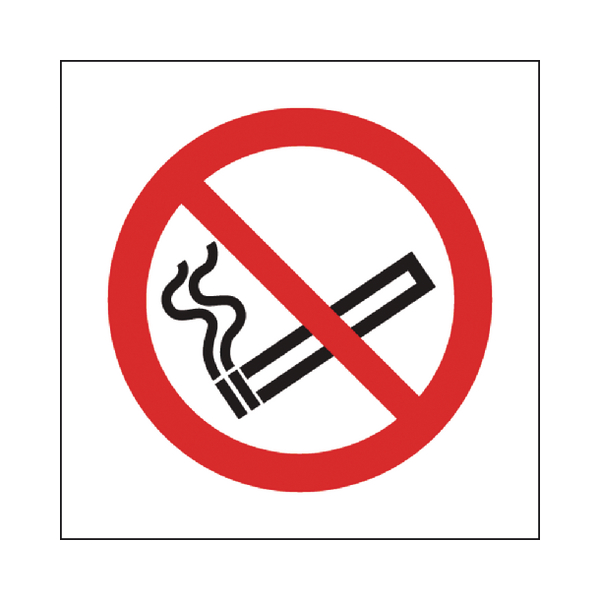Image for Safety Sign No Smoking Symbol 150x150mm Self-Adhesive P01G/S