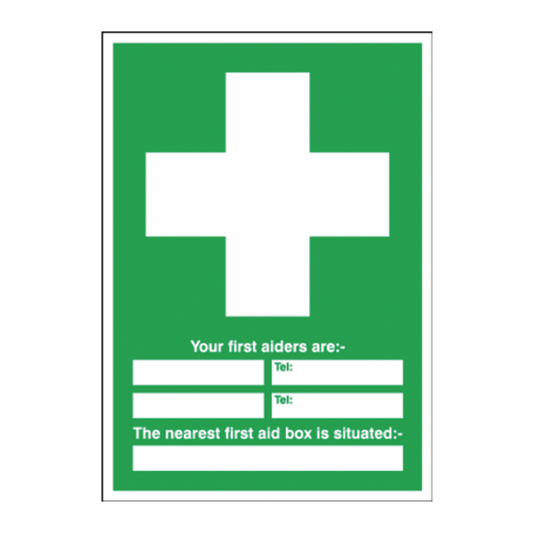 Safety Sign First Aid 600x450mm PVC E91A/R