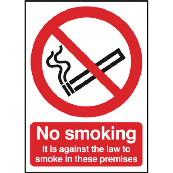 Safety Sign 297x210mm No Smoking Self-Adhesive