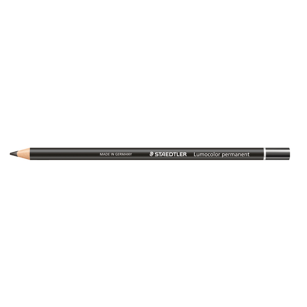 Staedtler Lumocolor Glasochrom Permanent Pencil Black (Pack of 12) 108 20-9