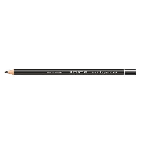 Staedtler Lumocolor Glasochrom Permanent Pencil Black (Pack of 12) 108 20-9