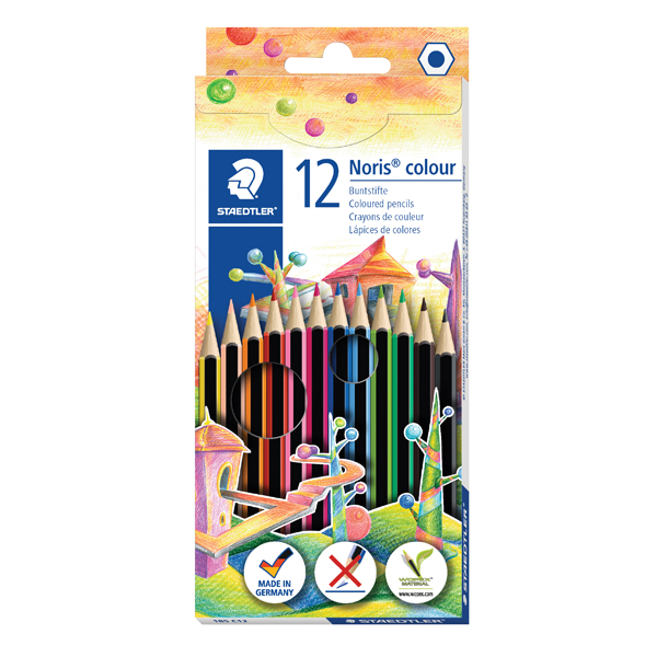 Image for 12 X Staedtler Noris Colour Colouring Pencils (Pack of 10) 185 C12