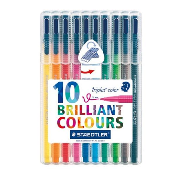 Staedtler Triplus Color Fibre Tip Pen Assorted (Pack of 10) 323SB10